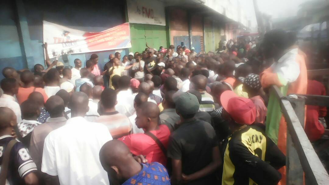 DOUBLE MATINEE CITOYENNE DE  TELEMA EKOKI AU GRAND MARCHE DE KINSHASA: «NOUS VOULONS LES ELECTIONS ET LIBEREZ LES PRISONNIERS POLITIQUES» – TELEMA EKOKI ANNONCE DES ACTIONS PACIFIQUES DE HAUTE ENVERGURE POUR OBTENIR L'ALTERNANCE AVANT LE 31 DÉCEMBRE2017